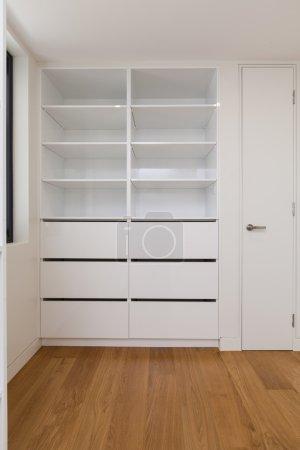 Empty closet wardobe