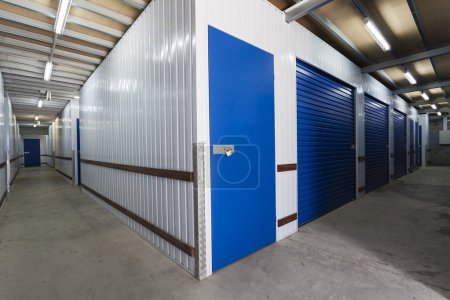 Photo for Warehouse with private storage sheds - Royalty Free Image