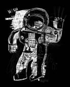 Kosmonaut, skafandr, spacewalk