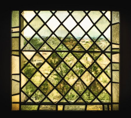 Medieval Stained Glass Window