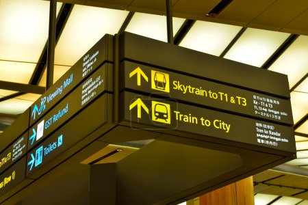 Directions for passengers at international airport