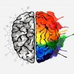 Creative concept of the human brain. Vector illust...