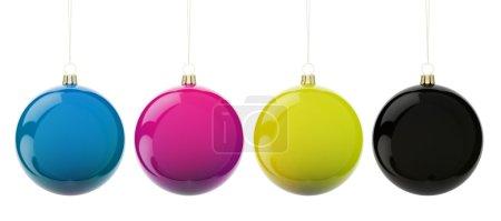 Christmas CMYK balls