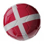 Fotbalový míč. Dánská vlajka
