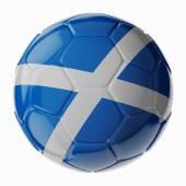Fotbalový míč. Vlajka Scotland