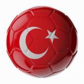 Fotbalový míč. Turecká vlajka