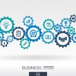 Business mechanism concept. Abstract background wi...