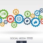 Постер, плакат: Social media mechanism concept