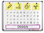 Design tools line icons