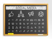 Social media hand drawing icons
