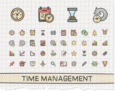 management hand drawing line icons