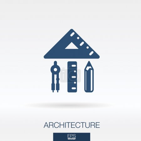 Architecture and construction concept icon.