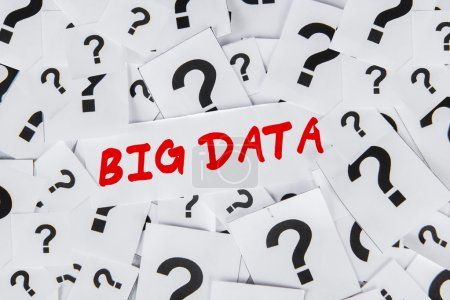 Big data with question sign