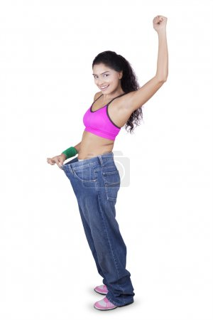 Indian Woman Showing Weight Loss