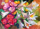 """Постер, картина, фотообои """"Натюрморт в букет цветов"""""""