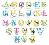 Cute animal alphabet