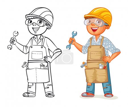 Bauarbeiter in Uniform