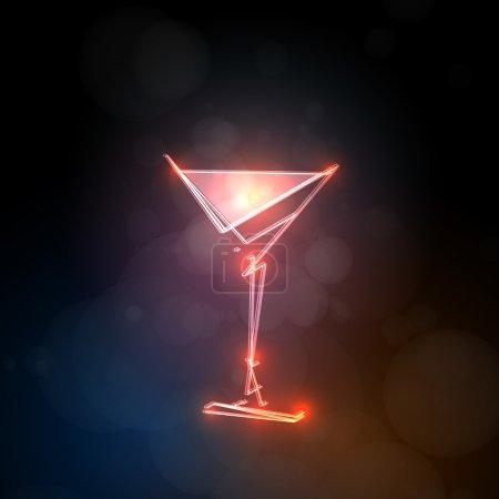 Illustration pour Modèle de boisson abstrait - image libre de droit