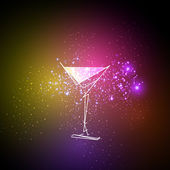 cocktail neon design menu background easy all editable
