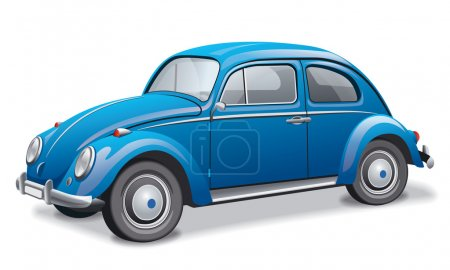 Illustration for Illustration of the beetle car - Royalty Free Image