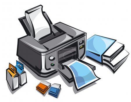 illustration of the ink jet printer