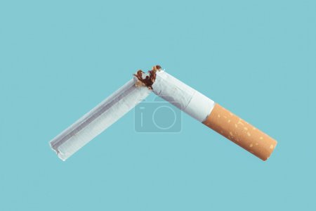 Cigarette burning, smoke addiction