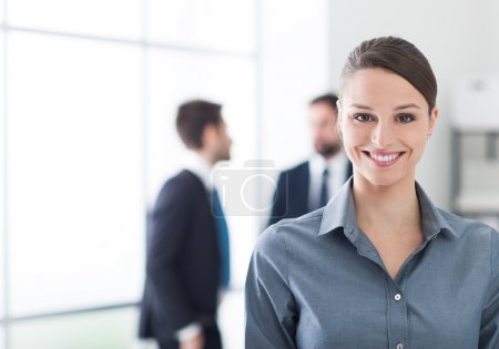 businesswoman posing in the office