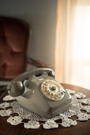 Vintage phone in the living room