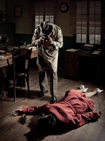 Photographer on crime scene