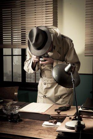 Spy agent stealing secret data