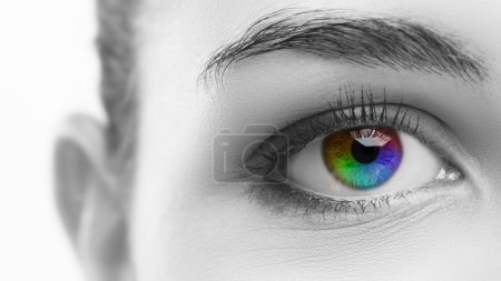 Woman's colorful eye