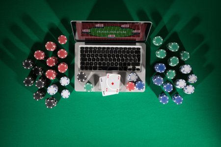 Poker and casino online gaming concep
