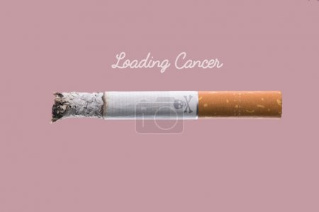 Cigarette burning as cancer loading bar