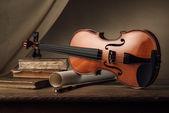 Régi hegedű zene lapos tekercs
