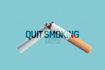 smoke addiction and quitting concept
