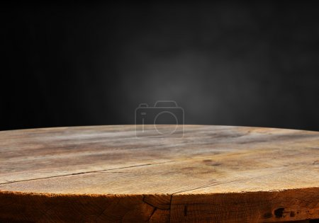 Photo for Empty table for product display montages on isolated background - Royalty Free Image