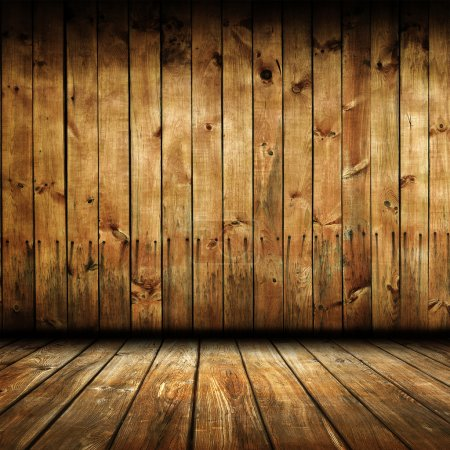 Empty wooden room