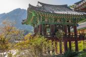 The building temple in Seoraksan National Park, South korea