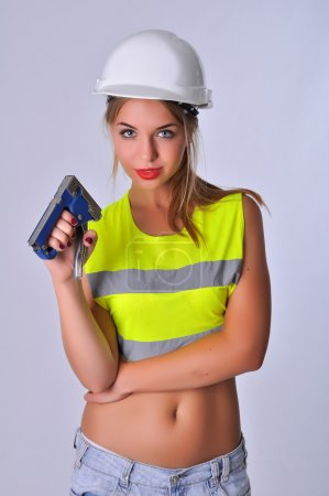 Sexy girl Builder stapler