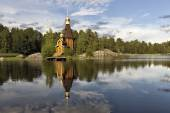 Russia. The Church of St. Andrew on the river Vuoksa.