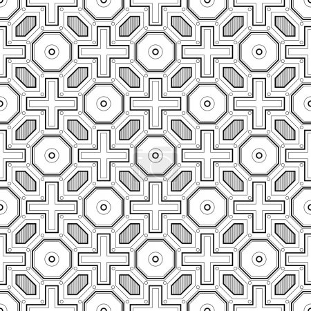 Seamless vintage ethnic pattern in the Greek style.