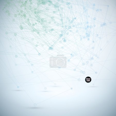 Abstract Vector Polygonal Background. Geometric Polygonal Shape. Vector Science Background Connecting Dots and Lines Structure