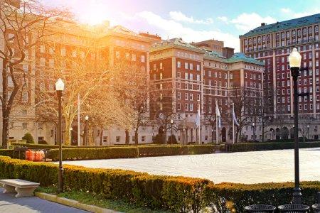 Columbia University in New York City at sunset
