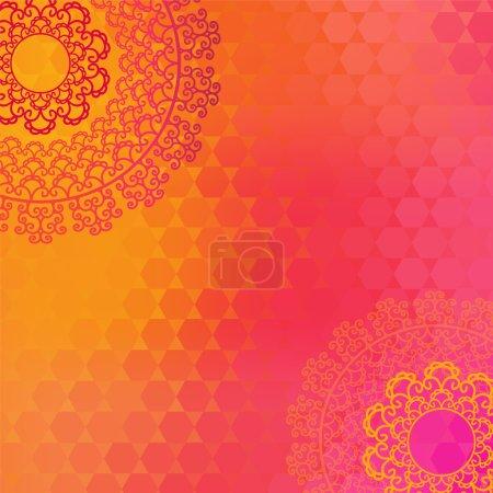 Photo pour Ethnique & Coloré Henna Mandala design, très élaboré et facilement modifiable - image libre de droit