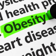 Постер, плакат: Obesity Healthcare Concept