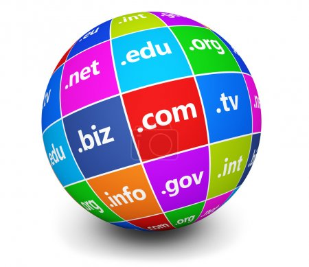 Domain Names Sign Web Globe