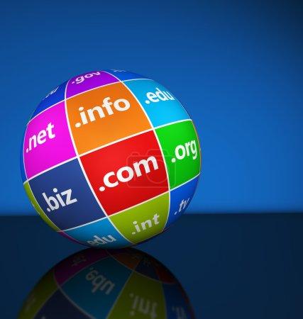 Internet Domain Names Sign Concept