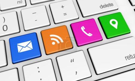 kontakt, web, verbindung, tastatur - B80854292