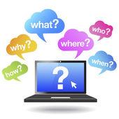 Questions Words Web Clouds Concept