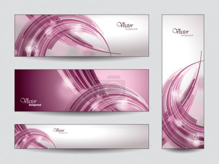 Illustration for Set of Banners or Bookmarks with waves - Royalty Free Image
